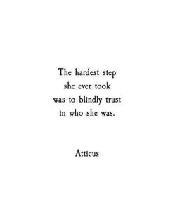 trust yourself